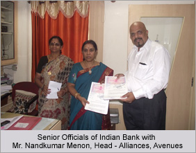 Senior Officials of Indian Bank with Mr. Nandkumar Menon, Head - Alliances, Avenues