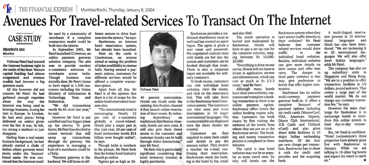 Avenues For Travel-related Services To Transact On The Internet - Published by efe