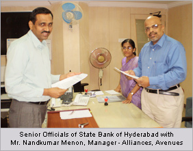 State Bank of Hyderabad ties up with Avenues for online direct debit facility
