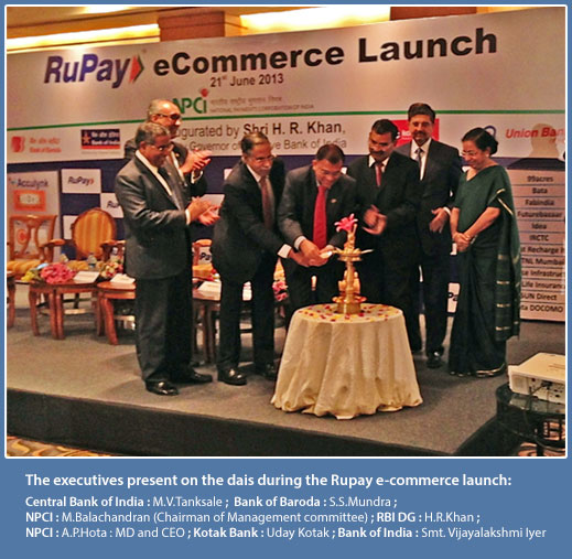 The executives present on the dais during the Rupay e-commerce launch
