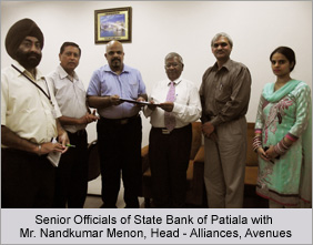 Senior Officials of State Bank of Patiala with Mr. Nandkumar Menon, Head - Alliances, Avenues